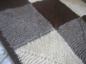 Close up of Back to Square One blanket